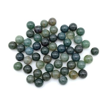 Beadztalk DIY Natural Stone Bead Ball Pendant No Hole 8 mm For Making Earrings Wired or Glued 50 pcs/lot
