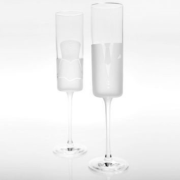 Rolf Glass Series 2 Dress & Tux Wedding Cheers Champagne Flutes