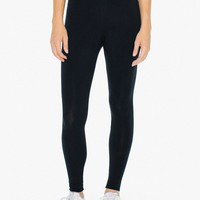 Cotton Spandex Jersey High-Waist Leggings | American Apparel