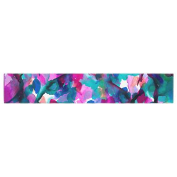 "Ebi Emporium ""By Any Other Name 1"" Magenta Teal Watercolor Table Runner"
