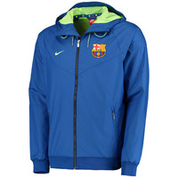 Barcelona Nike Full-Zip Windbreaker - Royal