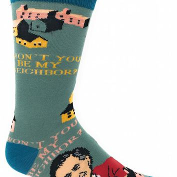 Be My Neighbor Mister Rogers Men's Crew Socks