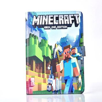 Case for iPad 2017 Case iPad Pro 9.7 iPad Air 1 Case Leather iPad Air 2 Cartoon Minecraft Folio Stand Magnetic Book Cover Stand