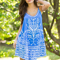 Beyond The Seas Aztec Print Dress