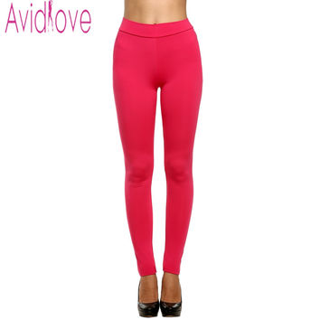 Avidlove Brand Women Candy Color Pants Sexy Thick Stretch Slim Pencil Pants Causal Solid Skinny Leggings Trousers 8 Colors U2