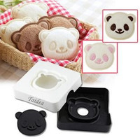 Sandwich Cutter Taidea® Cute Panda Pocket Bread Cutter, Hand Tools Sandwich Kit, Food Deco, Sandwich Mold, Sandwich Maker, Toast Mold Mould, Cookie Stamp Kit, Bread Tool DIY, All Kids Love It!