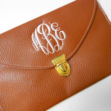 Monogram Clutch Purse Font Shown MASTER CIRCLE