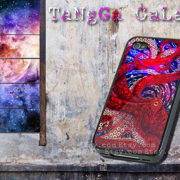 iphone case,Mosaic Octopus grafity,iphone 5 case,iphone 4/4s case,samsung s3,s4 case,accesories,cell phone,hard plastic.