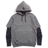 False Trainer Pullover Hoody Heather Grey