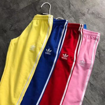 Adidas Women 3 Stripe Pure color Casual Sport Pants Sweatpants
