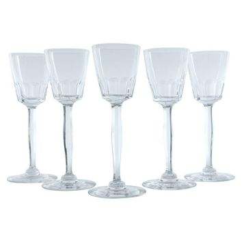 Pre-owned French Tall Stem Cordial Glasses - Set of 5