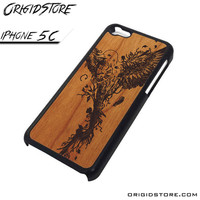 Wood Bird Fly Case For Iphone 5C Case
