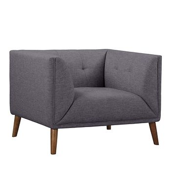 Hudson Mid-Century Button-Tufted Chair-Armen Living