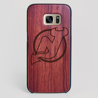 New Jersey Devils Galaxy S7 Edge Case - All Wood Everything