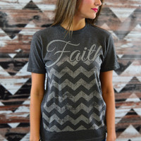 Faith Chevron Tee