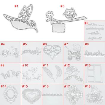 Metal Steel Embossing Dies Cutting Stencils DIY Scrapbooking Photo Album Craft Decorative Cuts Machine Tools LS