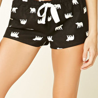 Polar Bear Print PJ Shorts