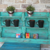 Rustic Tea Shelf, Wall Shelf, Decor Shelf, Accent Shelf