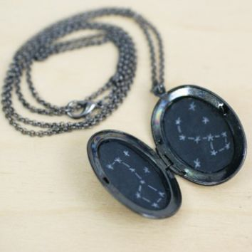 Constellation Locket Necklace - Big Dipper/Little Dipper