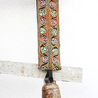 Windchime Medium Size CowBell- Handmade Wind Chime Bells emroidered belt to Hang in house for a Vintage Look,Cow bells,Wind Chime