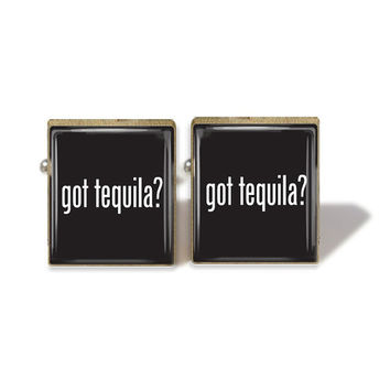 Scrabble Tile Cuff Links Got Tequila Cuff Links Tequila Cufflinks (A2639C)