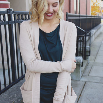 Falling Leaves Cardigan - Tan