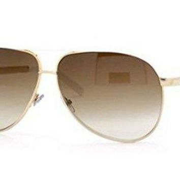 PEAPGQ6 Gucci GG 1827/S 1827S BNC/YU Gold/White Aviator Sunglasses 63mm