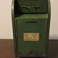 Antique Vintage Collection Mailbox Coin Bank