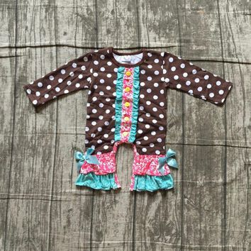 girls thanksgiving jumpsuits sets infant toddler baby girls poka dot romper baby infant girls thankgiving party romper outfits