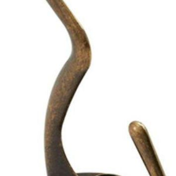 National Hardware® N830-160 Coat & Hat Hook, Antique Brass