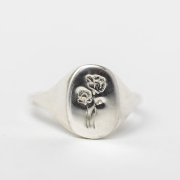 Poppy Signet Ring