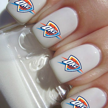 Oklahoma City Thunder Basketball Nail Decals