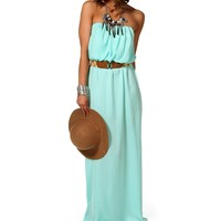 Sale-yucca Blue Belted Maxi Dress