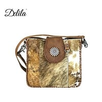 Delila Hair On Hide Collection Crossbody by Montana West LEA-6032