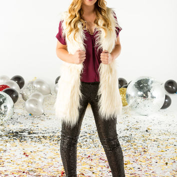 Long length faux fur vest-more colors