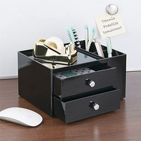 InterDesign 2-Drawer Desk Storage Box & Pencil Cup Organizer