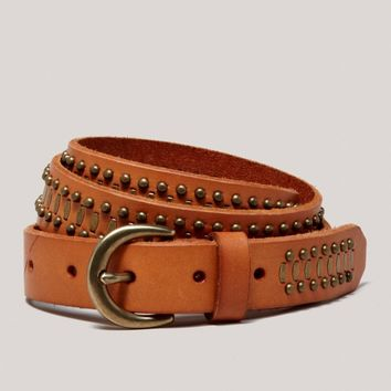 AEO Studded Leather Belt | American Eagle Outfitters