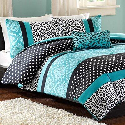 Girl S Teal Black And White Comforter From Amazon