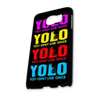 YOLO YOu Only Live Once Full Color Samsung Galaxy S6 Case