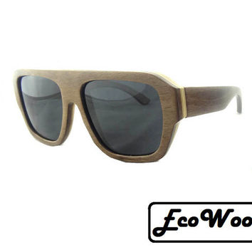 EcoWoo Skateboard Style Brown Sunglasses, UV 400