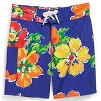 Ralph Lauren Floral Print Swim Trunks (Toddler Boys) | Nordstrom