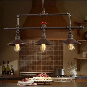 Industrial Style Water Pipe Pendant Lights-  Indoor for restaurants & home bars