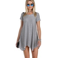 Navy Comfort Me Striped Tunic
