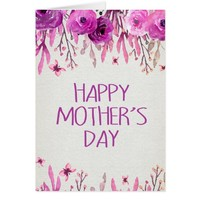 Purple Flowers | Happy Mother's Day Card