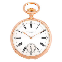 Patek Philippe Rose Gold Open Face Pocket Watch circa 1890