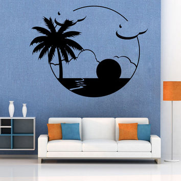 Vinyl Wall Decal Sticker Paradise Circle #1138