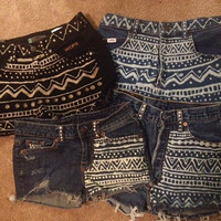 SALE Custom High Waisted Aztec Shorts - Free Shipping