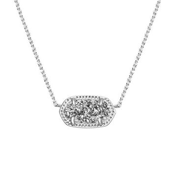 Elisa Silver Pendant Necklace in Platinum | Kendra Scott