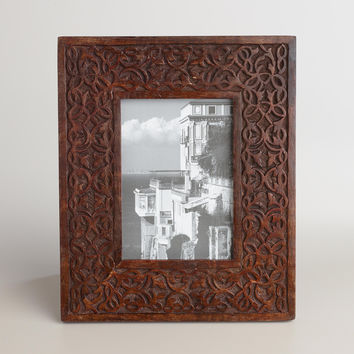 Espresso Carved Wood Deja Frame - World Market