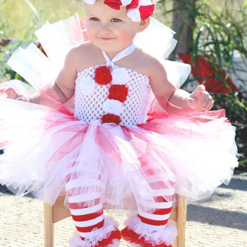 beautiful candy cane tutu dress peppermint stick for baby girl 6 18 months old baby - 12 Month Christmas Dress